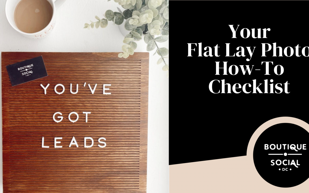 YOUR FLAT LAY CHECKLIST